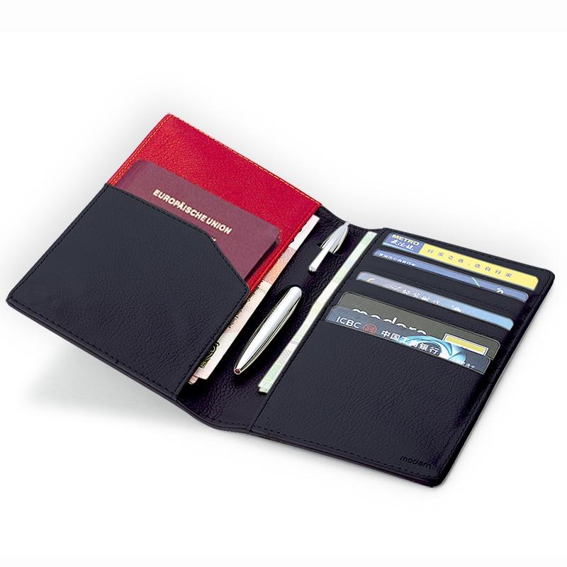Modern - Luxury Brand New 100% Cow Genuine Leather Men Wallets Organizer Wallet Travel Passport Holder Card Holder Famous famous brand new passport card holder