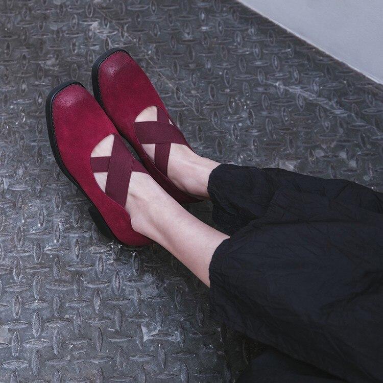 Bajo De Nueva Bombas Zapatos Alto Slip Las Tacón Punta Marca 2018 Moda {zorssar} on Señoras rojo Redonda Ocio Mujer Negro BxIZfw