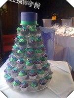 HOT!!!จัดส่งฟรีที่ขายดีที่สุดรอบแต่งงานเค้กยืนแสดง
