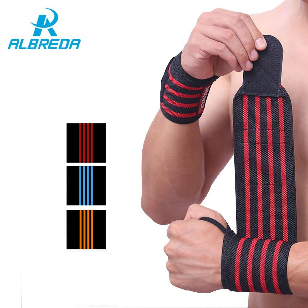 ALBREDA 1 Paire Sport Accessoires De Sécurité de Sport Support de Poignet Bracelet Élastique Bracelet Poids Sangles de Levage Gym Accessoires
