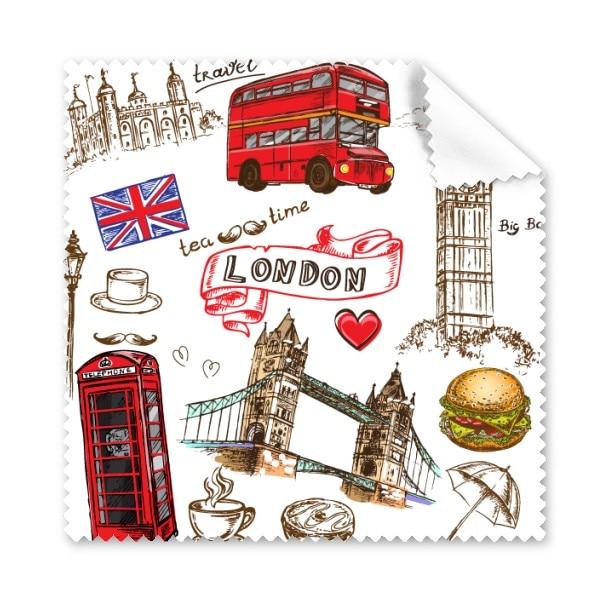 5 Pcs Amour Coeur Tour Bus Voiture Royaume Uni Hamburger