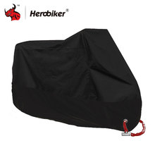 HEROBIKER Motorcycle Cover All Season Waterproof Dustproof UV Protective Outdoor Indoor Lock-holes Design Motorbike Rain Cover