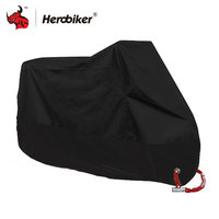 HEROBIKER Motorcycle Cover All Season Waterproof Dustproof UV Protective Outdoor Indoor Lock Holes Design Motorbike Rain