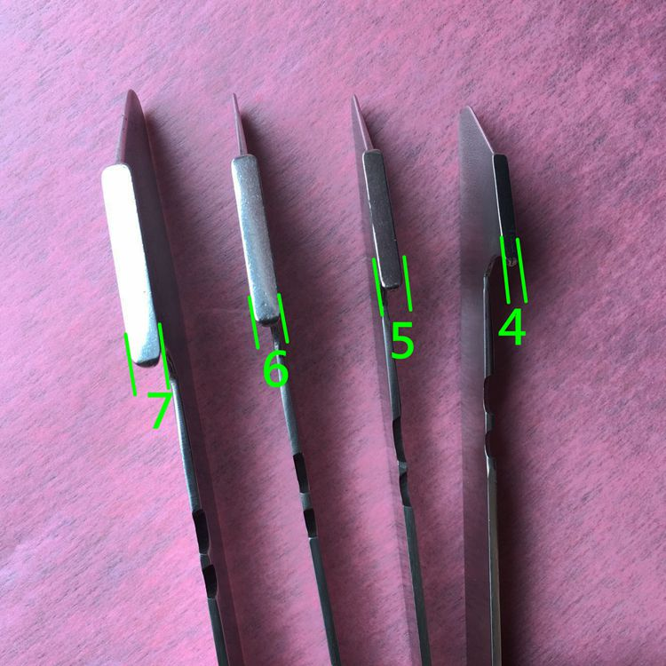 Motor maintenance tools pressing plate pushing paper marking scraping paint wire knife new type stainless steel