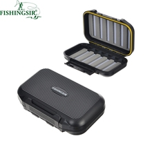 Fly Fishing Box Foam Double Side Waterproof Flies Lures Storage Slim/Large Streamer Fly Box Bag Fishing Tackle Gear Accessories