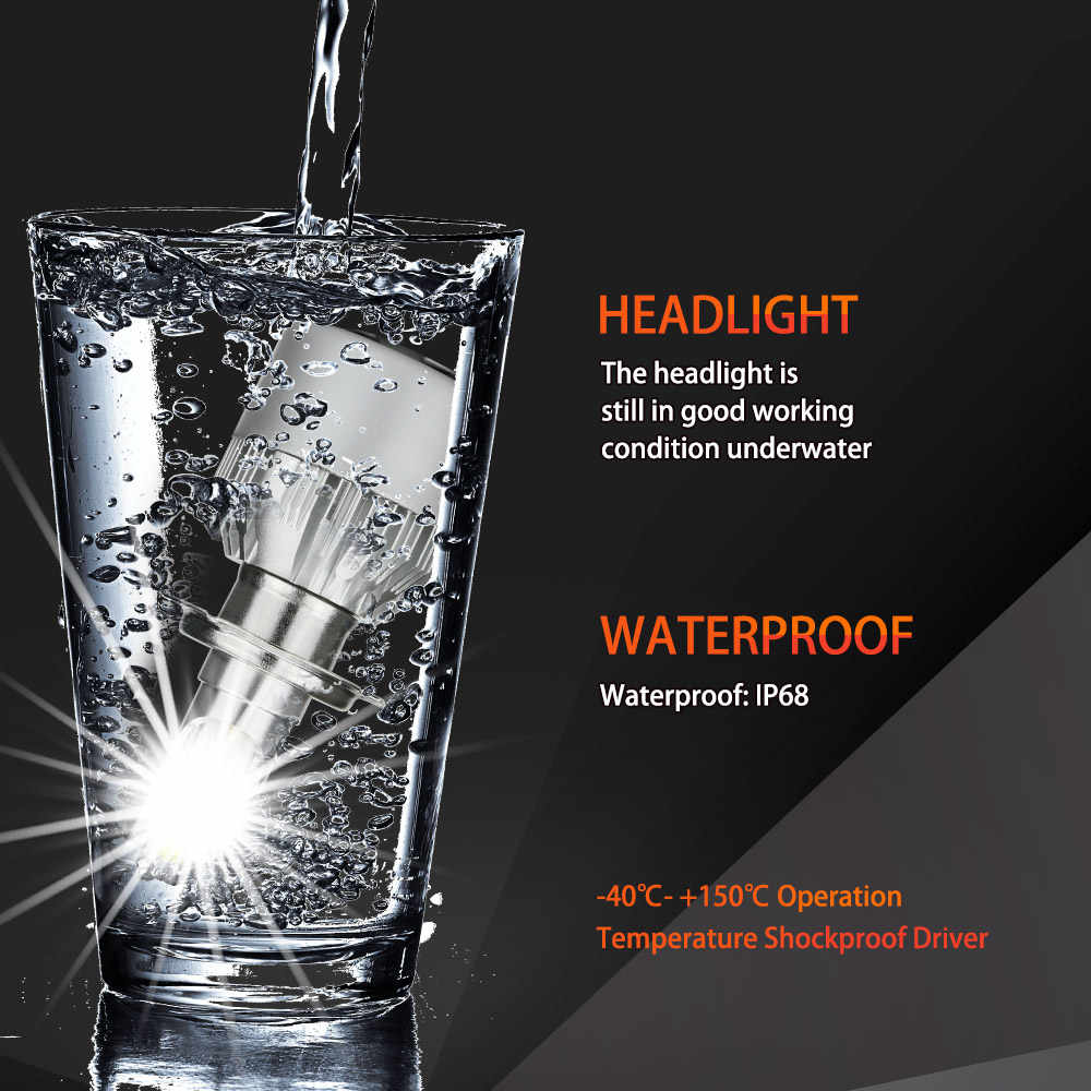 2Pcs H4 LED H7 H11 H8 9006 HB4 H1 H3 HB3 H9 Car Headlight Bulbs LED Lamp COB Chip 80W 8000LM Auto Led Lights 6000K 12V Headlamp