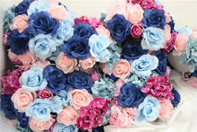 SPR -10pcs/lot wedding road lead artificial wedding table flower center flower ball decoration
