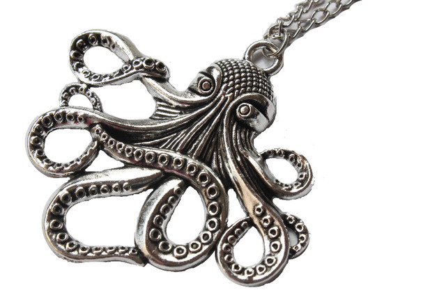2pcs wholesale octopus necklace very large octopus jewelry octopus 2pcs wholesale octopus necklace very large octopus jewelry octopus pendant necklace silver kraken necklace mozeypictures Choice Image