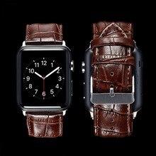 Черный коричневый Пояса из натуральной кожи Пряжка ремешок группа ремень для iwatch Apple Watch 38 мм 42 мм ремешок для iwatch серии 1, серии 2