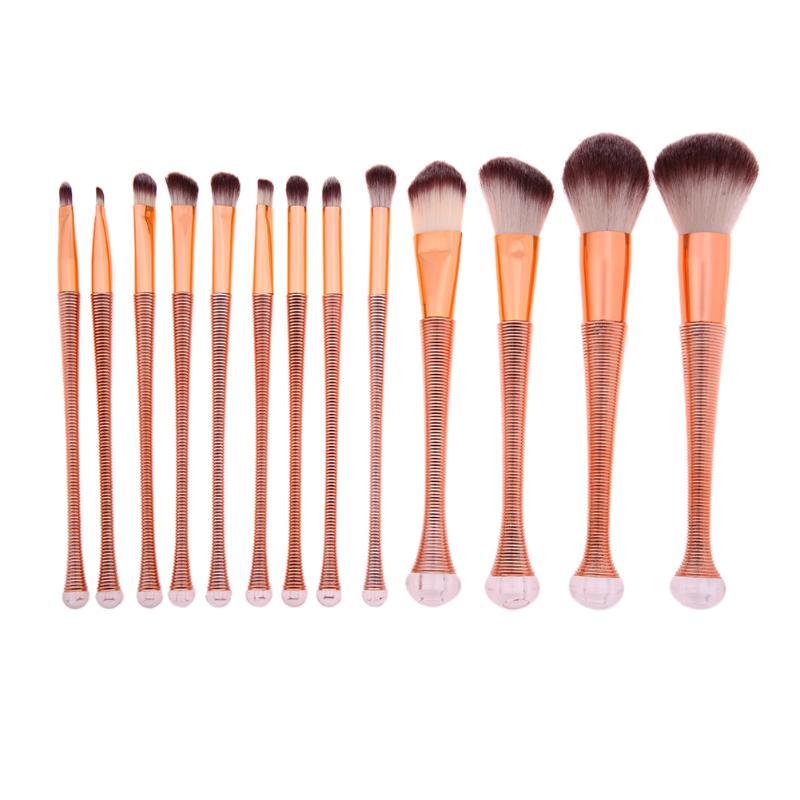 13pcs Rose Gold Makeup Brushes Foundation Blending Powder Facial Tools Nylon Wool Hair Makeup Brushes
