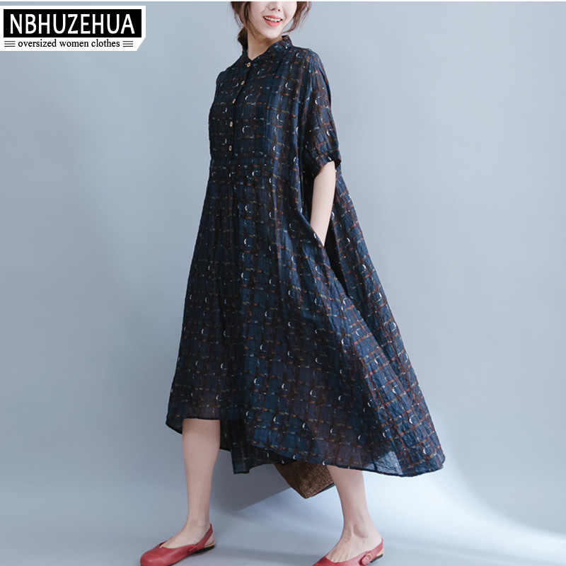 4XL 5XL 6XL Plus Size Women Clothing Sundress Retro ...