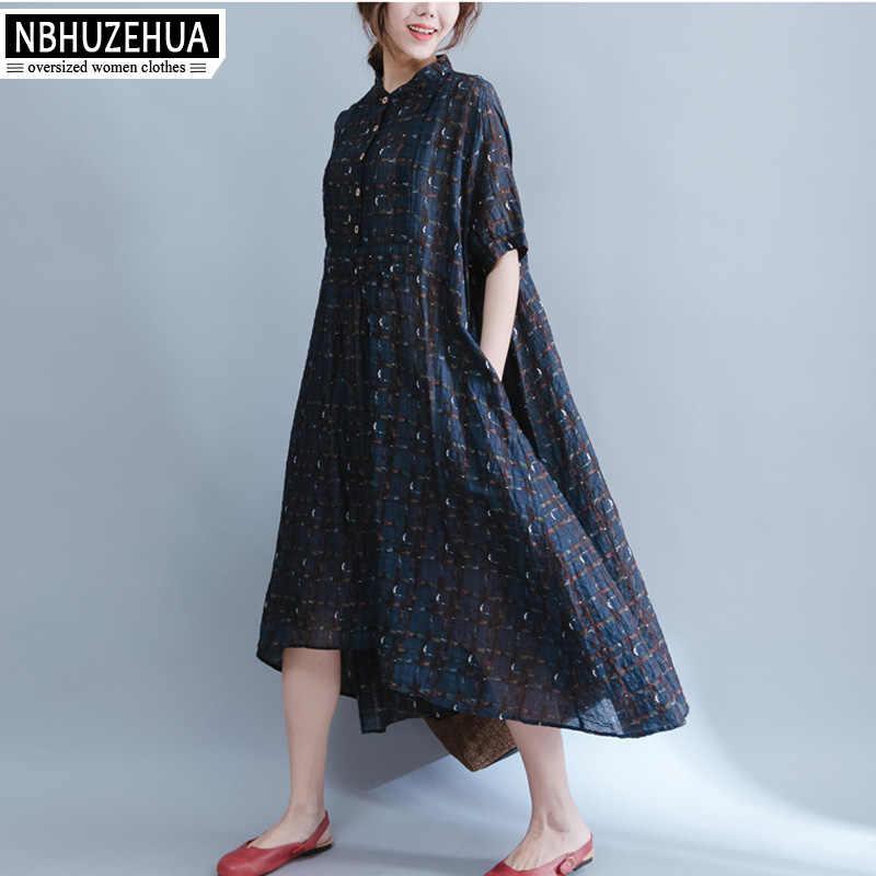 912be4c962a 4XL 5XL 6XL плюс Размеры женская одежда сарафан Ретро Нерегулярные длинный  льняное платье пляжное Винтаж платье