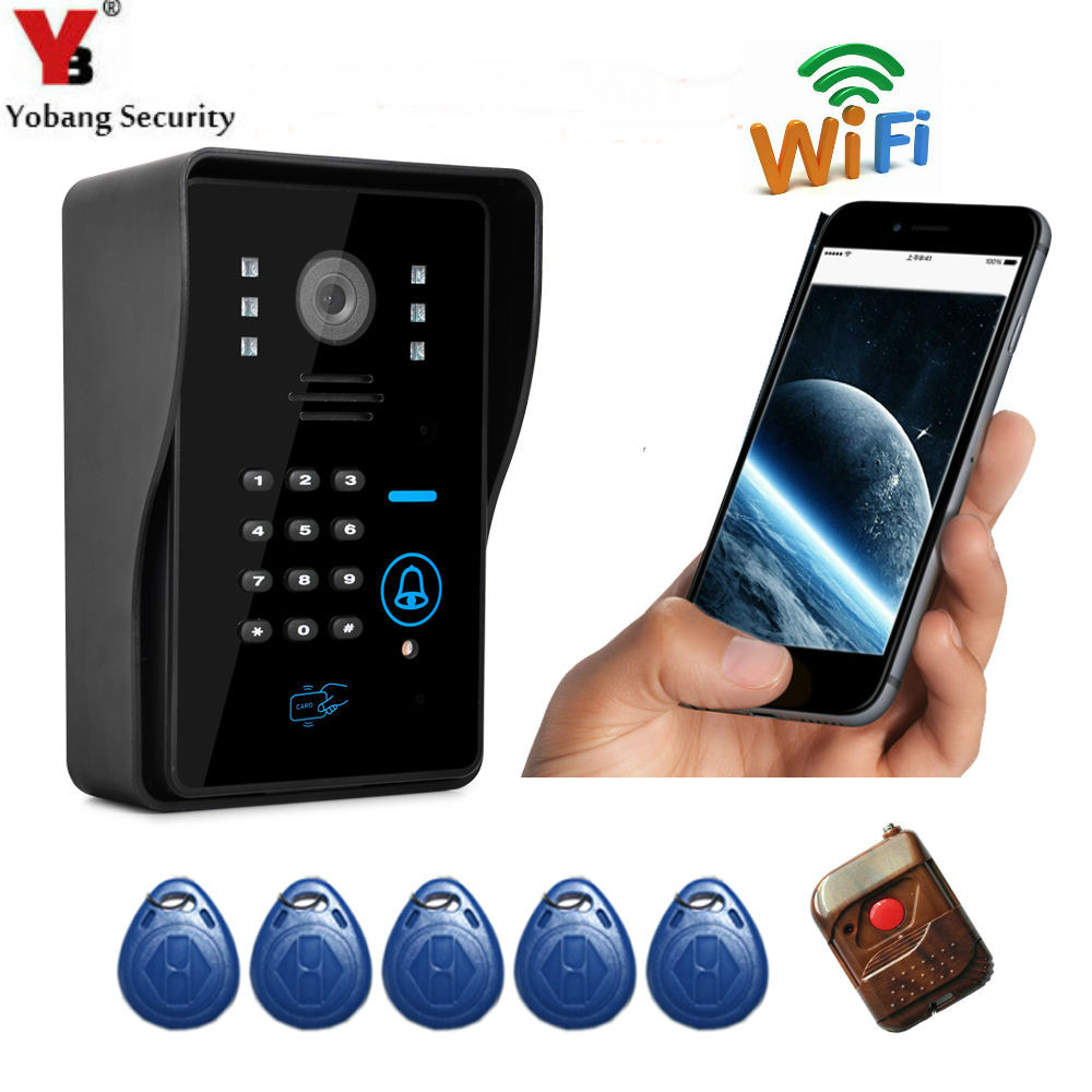 Yobang Security Apartment Wifi Video Door Phone Wireless Intercom Wifi Doorbell Support Motion Detect Alarm my apartment