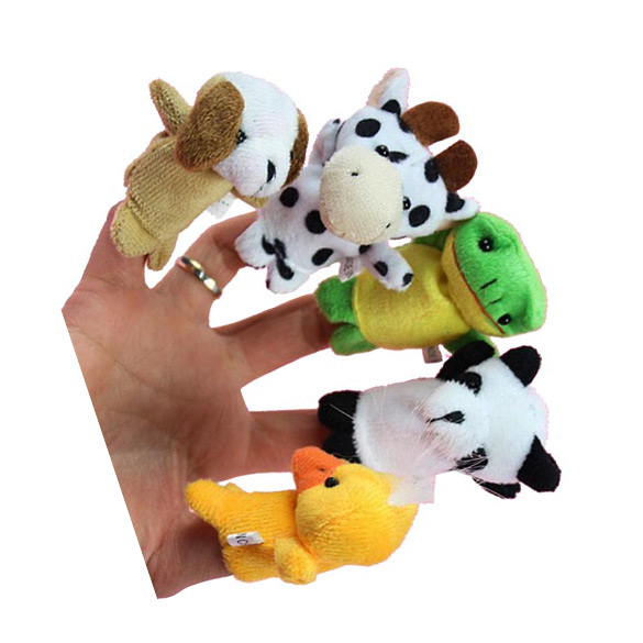 10x-Cartoon-Biological-Animal-Finger-Puppet-Plush-Toys-Child-Baby-Favor-Dolls-3