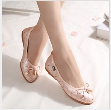 2017 popular mocassin femme comfortable career ladies flat shoes sweet ballerina flats footwear Very soft flat shoes women 34-45