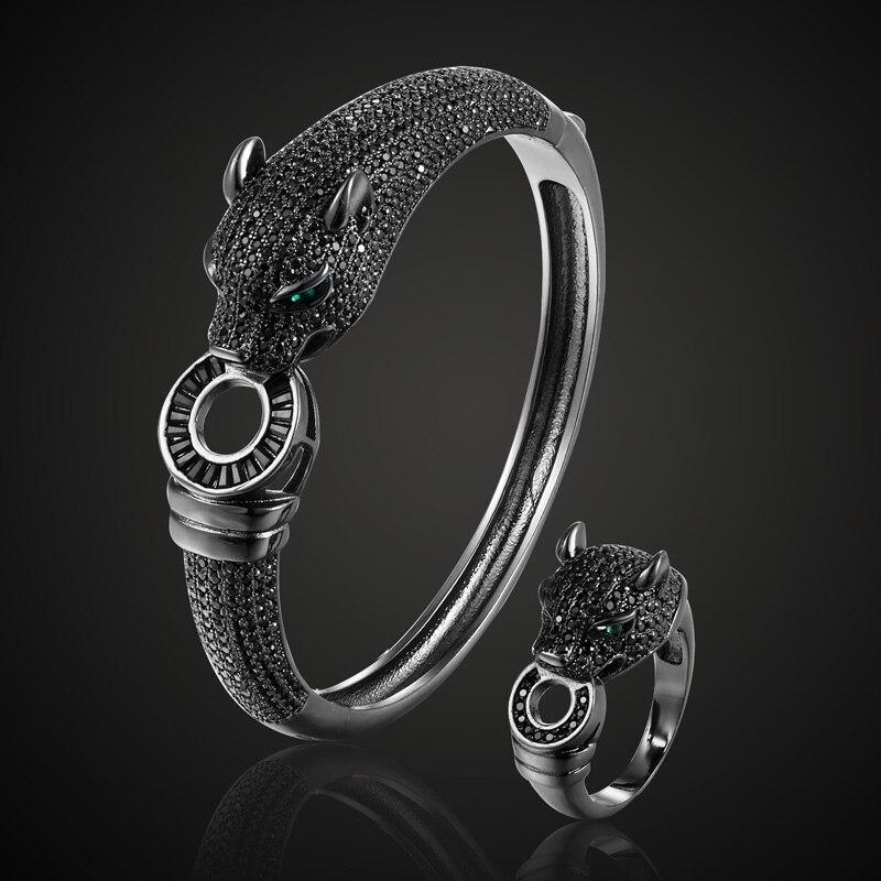 Новое поступление, реактивный кубический циркон, леопард, животное, свадебный браслет, ювелирный бренд, Европейский дизайн, медный браслет, Mujer, мужской браслет