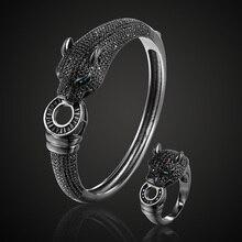 Zlxgirl schmuck Jet Cubic Zirkon Leopard Tier Braut Armreif Schmuck Europa Design Kupfer Armband frauen Armband freies 1 maske