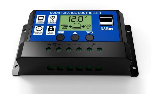Zonnepaneel systerm controller 10A 20A 30A 12 V/24 V LCD PWM Solar Controller Batterij PV cel panel charger Regulator