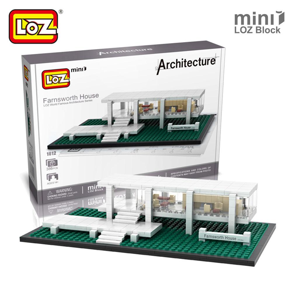 Mr.Froger LOZ Mini Blocks Farnsworth House Model Bricks Buils