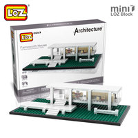 Mr Froger LOZ Farnsworth House Mini Block World Famous Architecture Series Minifigures Building Blocks Classic Toys
