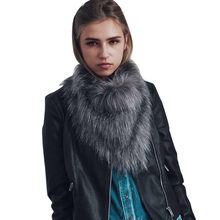 New Womens Scarf Scarves Warm Faux Fur Shawl Winter girl Parka Wrap Collar Casual Solid head towel neckerchief(China)