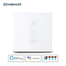 Zemismart EU US Alexa Echo Smart Ceiling Fan Switch Wifi APP Timer Speed Group Control Regulation Home Wall
