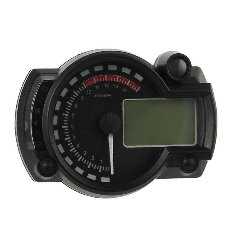 EDFY-New LCD Digital Backlight Motorcycle Odometer Speedometer Tachometer MPH Gauge