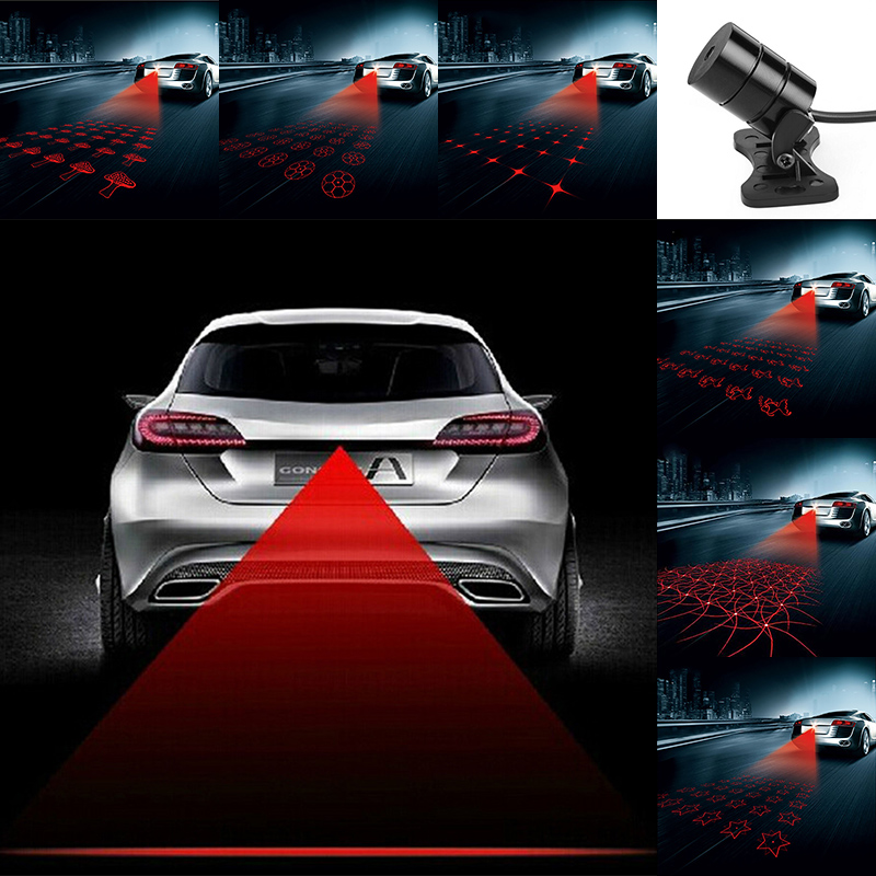 Anti Collision Rear-end Car Laser Tail 12v led Car Fog Lights Auto Brake Parking Lamps Warning Light Car Styling For Volkswagen car styling quadrangle anti collision rear end car laser tail 12v led car fog light auto brake lamp rearing car warning light