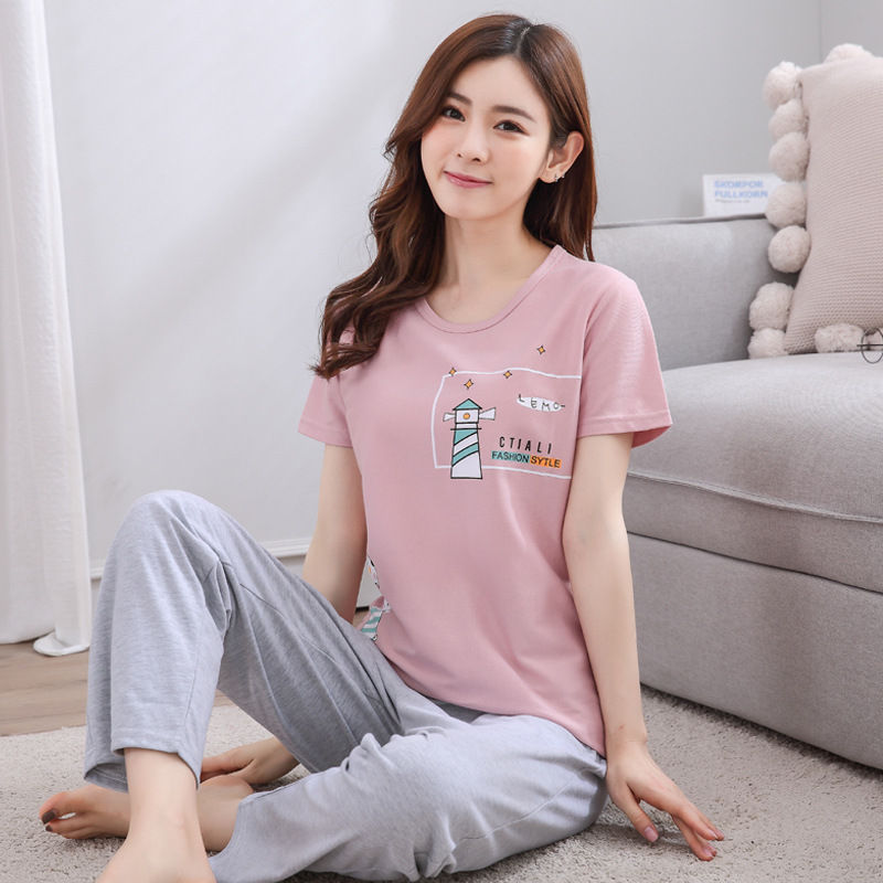 100% Cotton Women   pajamas     set   2018 Winter ladies warm sleepwear girls long-sleeved Casual Lingerie femme home clothes Christmas