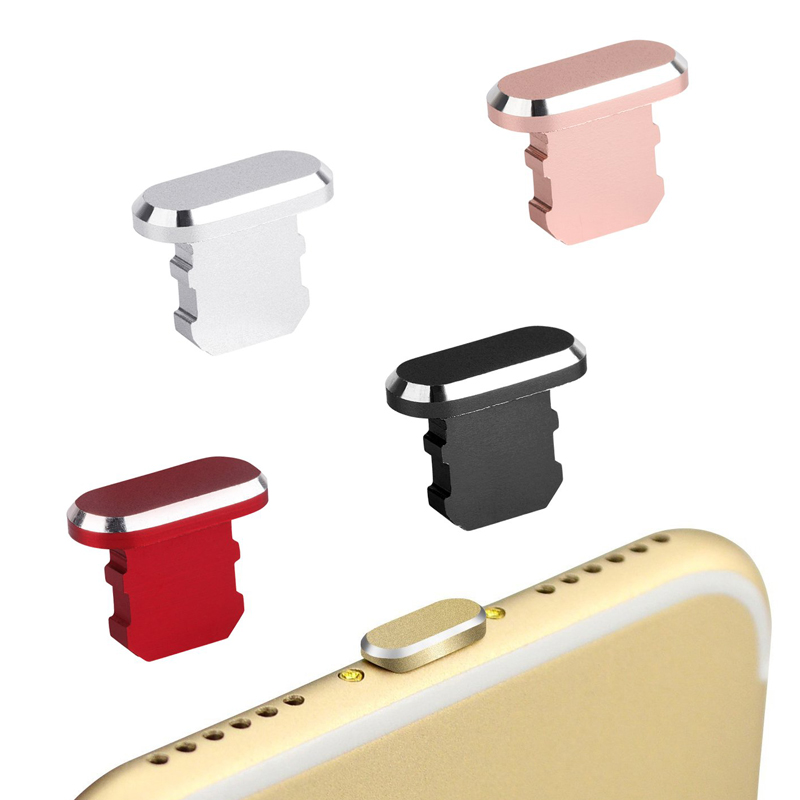 10PCS Metal Dust plug For iphone X XS XR 8 8P 7 7P 6S 6 5s plus accessories Dust plug cell phone charge smartphone accessories