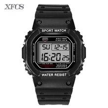 XFCS 2017 waterproof wrist digital automatic watches for men digitais watch running mens man digitales clock diving sport watch