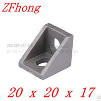 50pcs 100pcs 2020 Bracket 20mm X 20mm Aluminum Profile Corner Fitting Angle For 2020 Aluminum