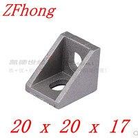 50pcs 100pcs 2020 Bracket 20mm X 20mm Aluminum Profile Corner Fitting Angle For 2020 Aluminum