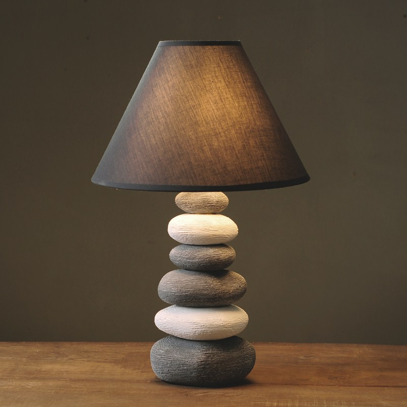 Creative Ceramics Stone Table Lamps Retro Bedroom Bedside Study Cafe Decorative Lighting table lights ZA simple wooden glass ball table lamps creative warm night light bedroom bedside table light decorative home lighting lamp za mz88