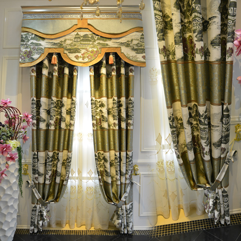 Brand Jacquard After Importation Of Chinese Modern Fashion Living Room  Bedroom Curtains Custom Screens Oriental Art ...