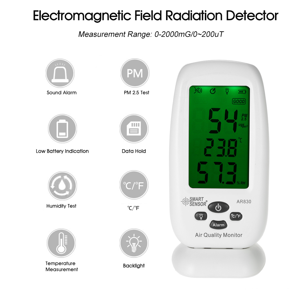 Indoor Air Quality Detector Thermometer Hygrometer indoor Air Analyzer Monitor Haze Dust PM2.5 Detector & Temperature & Humidity co2 meter co2 monitor detector gas analyzer indoor air quality monitor ht 2000 3in1 temperature relative humidity co2 detector