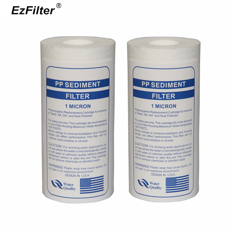 цена на 5 inch x 2.5inch 1 Micron Reverse Osmosis Water System Filter PP Sediment Filter Cartridge
