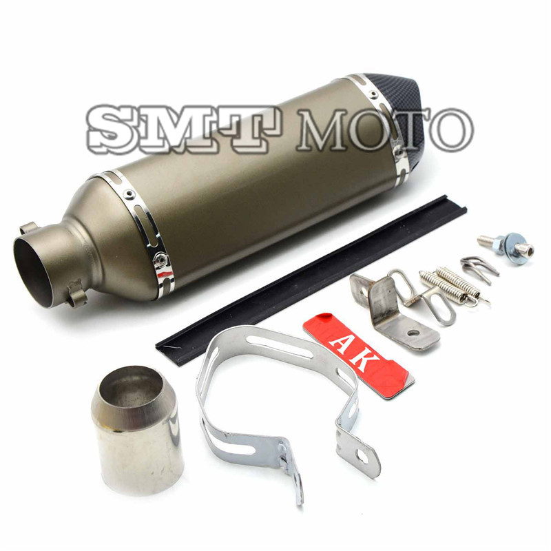 New motorcycle exhaust pipe motorcycle muffler carbon fiber 36-51mm fit for Kawasaki GTR1400 VN1600 VN1500 GPZ1100 GPZ500S free shipping carbon fiber id 61mm motorcycle exhaust pipe with laser marking exhaust for large displacement motorcycle muffler