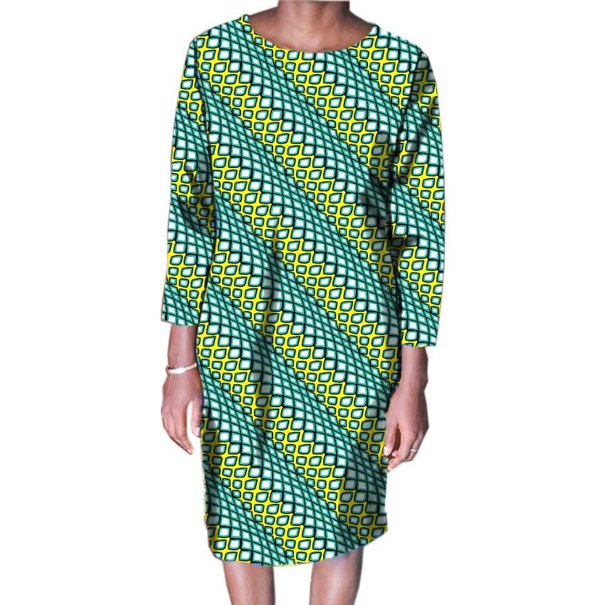 2018 Femmes Mode Africaine Imprimer Robes Des Fêtes Africain Imprimé Robes Dames Costume Fait Dashiki Femmes Vêtements Personnalisés