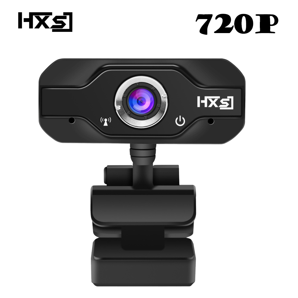 HXSJ 720P HD Webcam, InTeching USB Widescreen Computer Camera with Microphone for PC, Desktop or Laptop 360 degree rotation logitech c930e usb desktop or laptop webcam hd 1080p camera