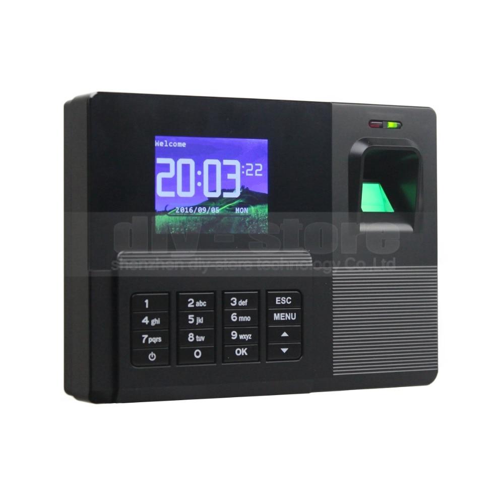 DIYSECUR 2.8inch HD Color Biometric Fingerprint Time Attendance Digital Electronic Reader Machine Clock Employee Payroll Realand