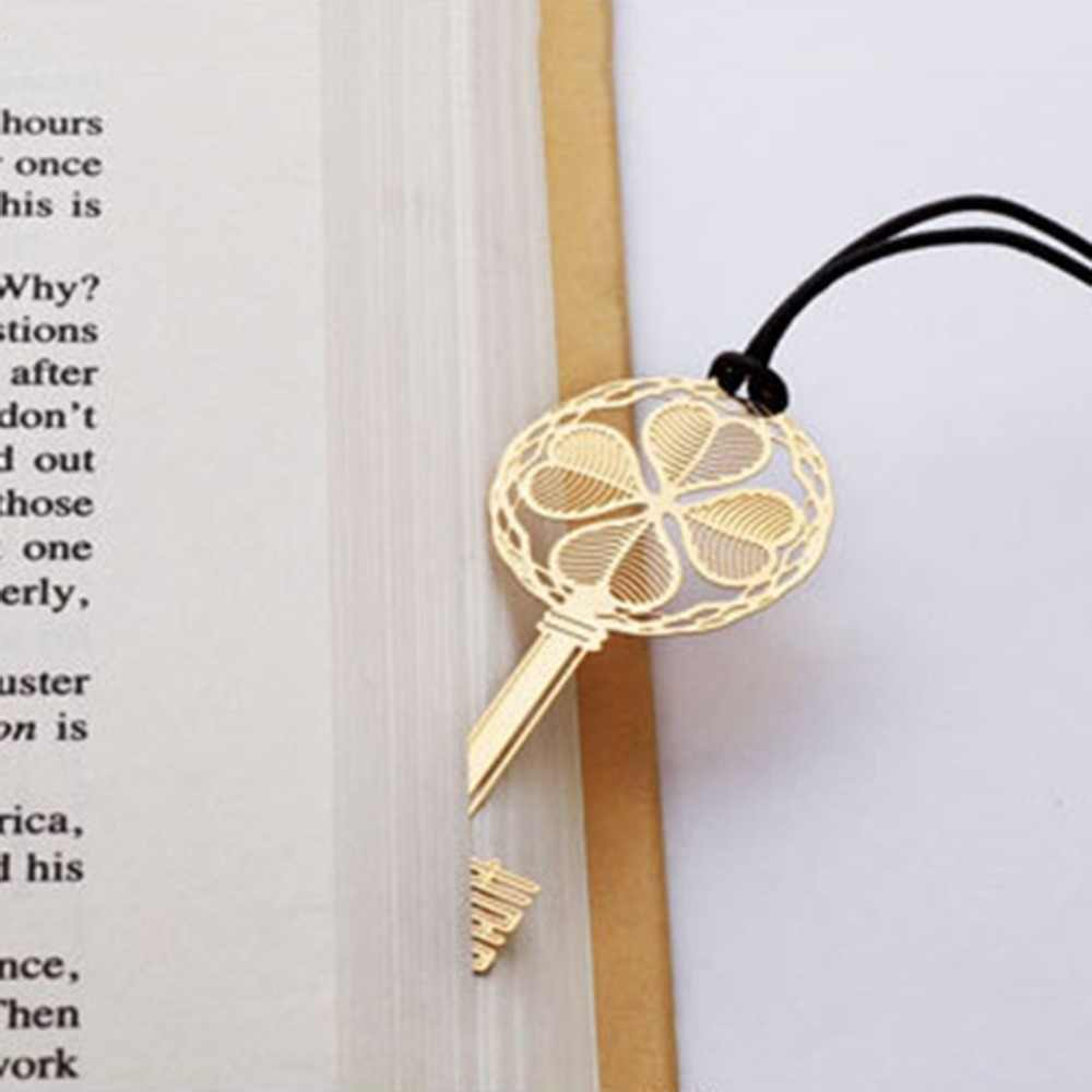 18K Gold Plated Metal Unique Lucky Pendant Stationery Bookmark Book Mark Gifts Orthodox icon medal