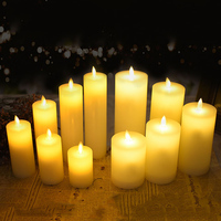 Электрическая светодиодная восковая свеча с танцующим пламенем, прекрасная Светодиодная свеча для свадьбы, christmast, новый год, огни для празд...