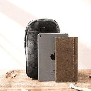 Image 3 - AETOO sacs à bandoulière en cuir véritable pour hommes, sacoche décontracté, petite marque, sac à épaule de styliste masculin, sac de poitrine