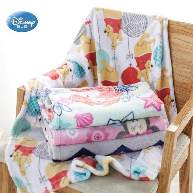 Ariel Disney Winnie Bebê Minnie Mouse de Pelúcia Cobertor de Flanela Toalha Unisex Presente Do Menino Da Menina Do Bebê do animal de Estimação Gato Joga no Berço cama Avião