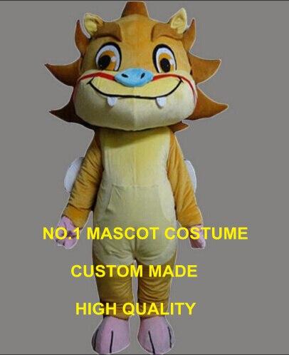 Animal porte-bonheur chinois petit costume de mascotte Kirin taille adulte dessin animé kirin dragon thème anime cosplay costumes carnaval fantaisie 2638