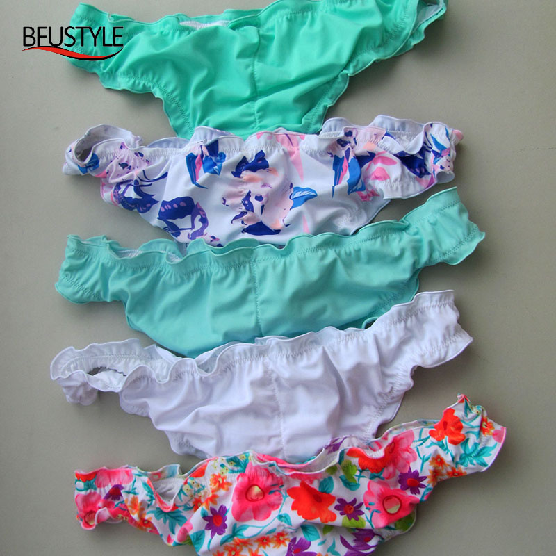 2019 Bikini Bottoms Briefs Sexy Secret Swimwear Biquini Women Brazilian One Piece Fold Style Thong Bathing Pants