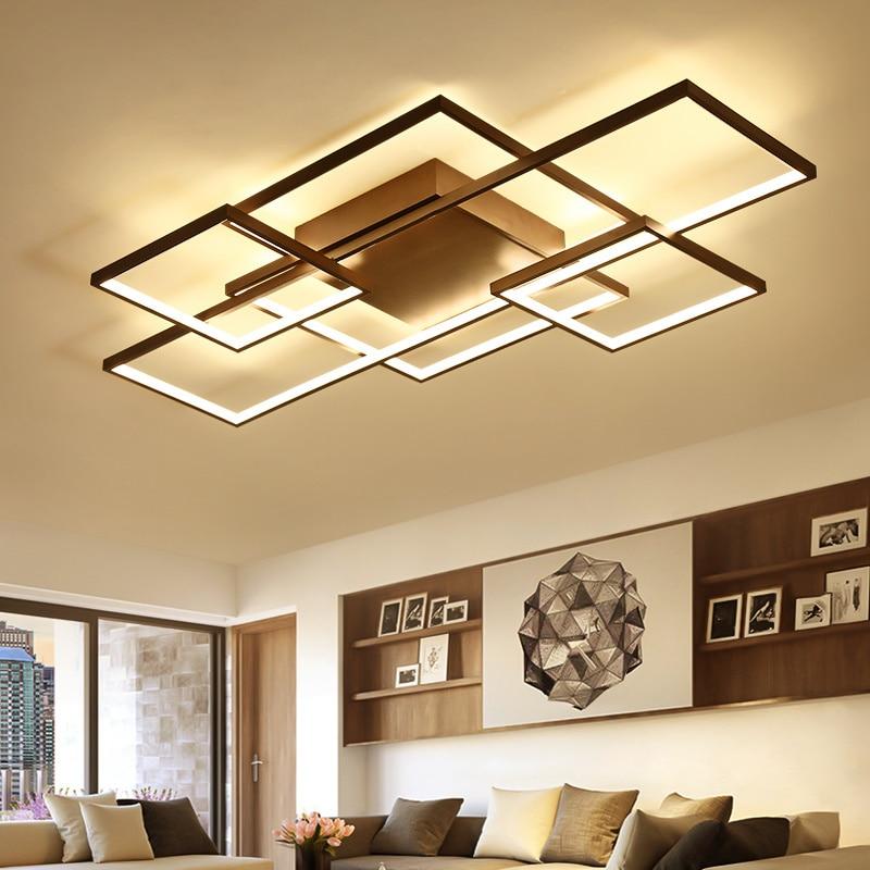 Minimalism Livingroom Bedroom led ceiling Lights Rectangle/Square Modern led Ceiling Lamp Fixtures plafonnier luminaria de teto цена 2017