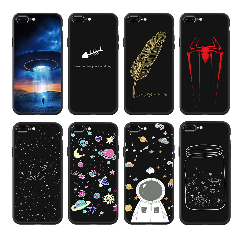 Silicone Phone Case For iPhone XR XS Max 7 8 6 6S Plus 5 5S Pattern