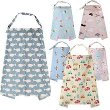 New Breathable Baby Feeding Nursing Covers Mum Breastfeeding Poncho Cover Up Cotton Adjustable Neckline T0893